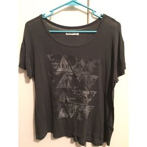 Hollister Grey Triangle Top